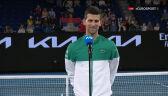 Djoković po awansie do finału Australian Open