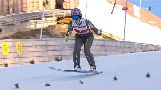 Skok Rajdy z 1. serii konkursu na skoczni normalnej w mistrzostwach świata