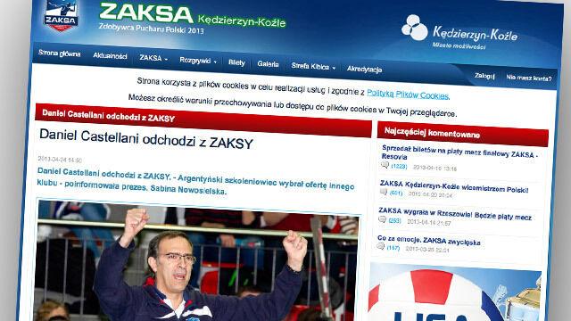 Castellani nie jest już trenerem ZAKSY
