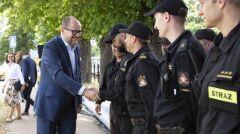 Prezydent Gdańska na ćwiczeniach związanych z ochroną przeciwpowodziową