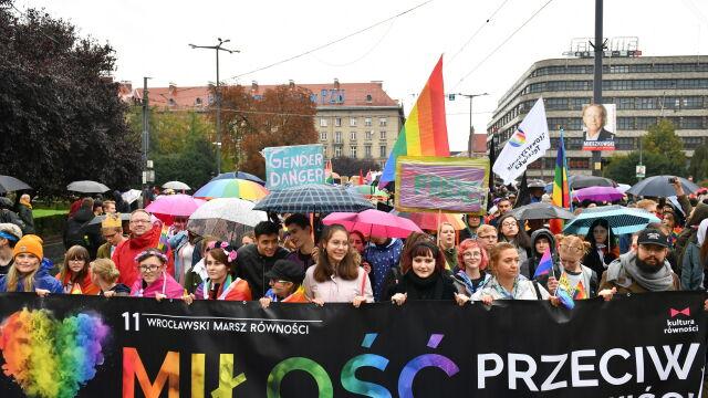 Wrocławski Marsz Równości. Zatrzymany człowiek z nożami