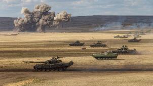 Rosyjskie wojska ćwiczą na masową skalę.