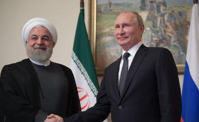 Spotkanie Władimira Putina i Hasana Rowhaniego w Armenii