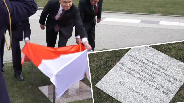 Po 1050. rocznicy chrztu Polski została tablica upamiętniająca orędzie prezydenta