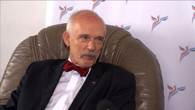 """Korwin-Mikke tłumaczył się w PE z użycia słowa """"Murzyni"""" na debacie"""