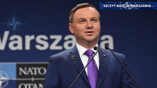 """Duda: NATO i Polska odniosły sukces. Stoltenberg zakończył """"historyczny szczyt"""""""