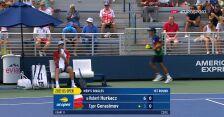 Hurkacz wygrał 1. seta w starciu z Gierasimowem w 1. rundzie US Open