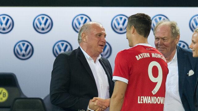 Uli Hoeness wierzy w potrójną koronę Bayernu