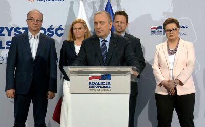 Schetyna: wybory do Parlamentu Europejskiego będą decydować o przyszłości Polski