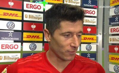 Robert Lewandowski po finale Pucharu Niemiec