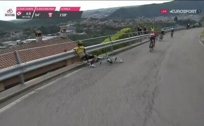 Roglić nie uniknął problemów na 15. etapie Giro d'Italia