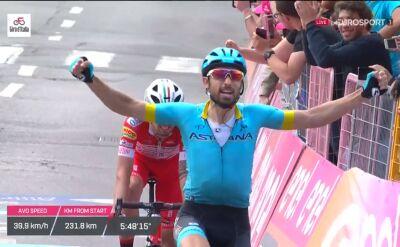 Cataldo wygrał 15. etap Giro d'Italia, Majka w czołówce