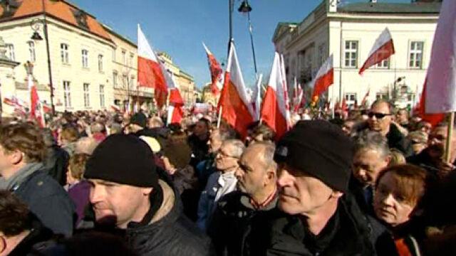 Apel poległych na Krakowskim Przedmieściu (TVN24)