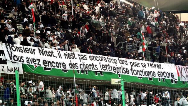 """Legia odwołuje się od kary za transparenty. """"Decyzja niezrozumiała i niesprawiedliwa"""""""