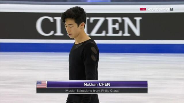 Cały występ Chena w programie dowolnym w mistrzostwach świata