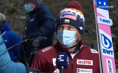 Dawid Kubacki po niedzielnym konkursie w Wiśle