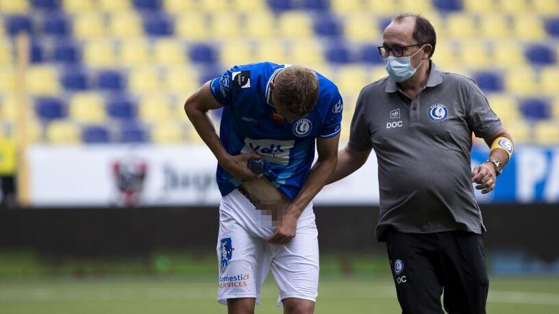 Nietypowa kontuzja piłkarza. Chirurgiczny zabieg wykonano w trakcie meczu