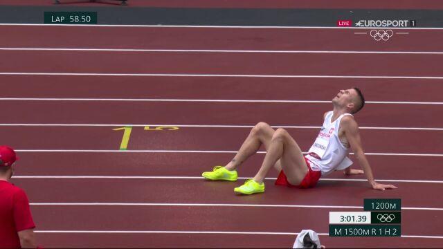Tokio. Marcin Lewandowski upada podczas biegu na 1500 metrów w fazie eliminacyjnej