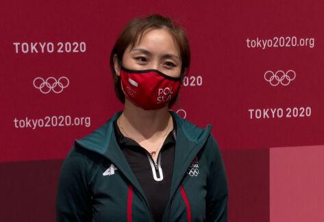 Tokio. Li Qian po meczu Polska – Korea Południowa w drużynowej rywalizacji w tenisie stołowym
