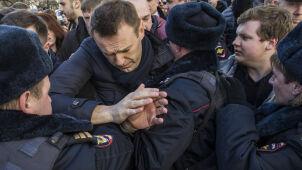 Wpłacił na fundację Nawalnego 50 dolarów. Znalazł się