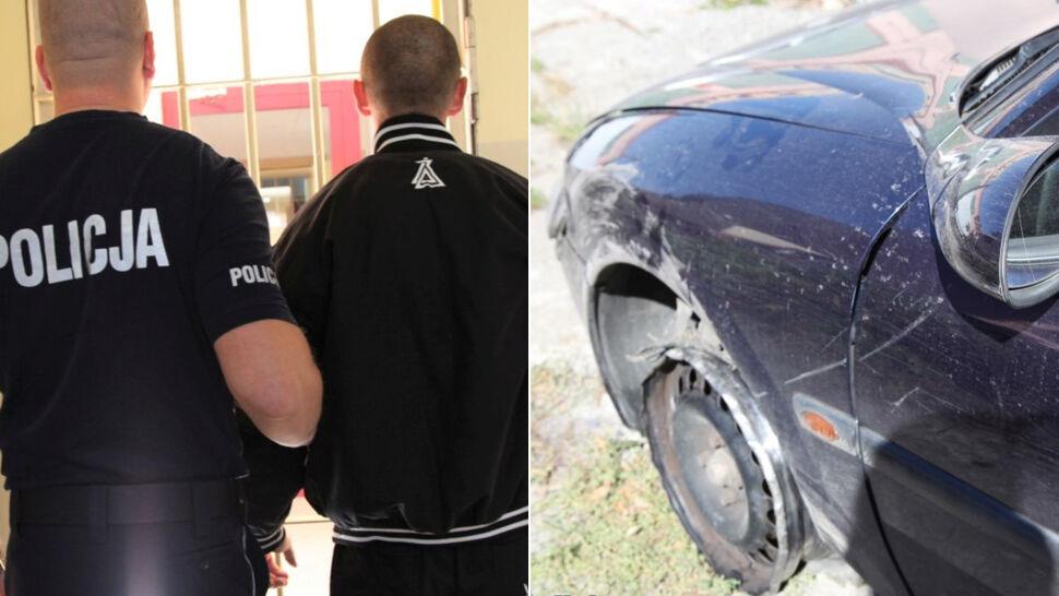Uciekając staranował radiowóz, podczas pościgu padły strzały