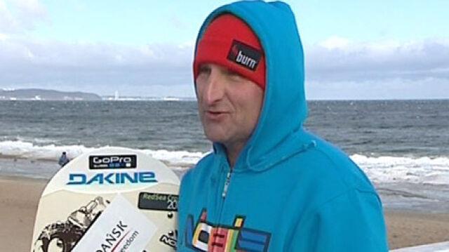 """Kitesurfer uratowany. """"Jan Lisewski odnaleziony. Żywy"""""""