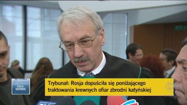 Mec. Ryszard Nowosielski, pełnomocnik rodzin ofiar (TVN24)