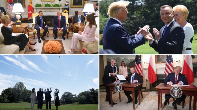 Skrót wizyty polskiej pary prezydenckiej w Białym Domu