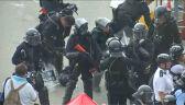 W Hongkongu starcia sił bezpieczeństwa z demonstrantami
