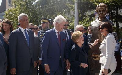 Clinton i Albright z wizytą w Kosowie