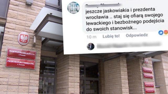 Groził prezydentom Poznania i Wrocławia. Jest akt oskarżenia