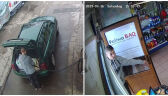 Kradzież uchwyciły kamery na stacjach