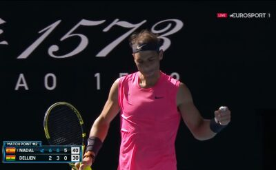 Nadal pokonał Delliena w 1. rundzie Australian Open