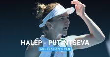 Skrót meczu Putincewa - Halep w 3. rundzie Australian Open