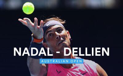 Skrót meczu Nadal - Dellin w 1. rundzie Australian Open