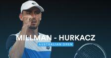 Skrót meczu Hurkacz - Millman w 2. rundzie Australian Open