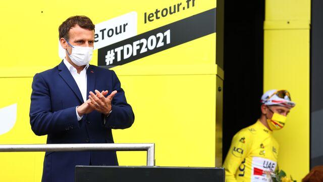 Wyjątkowy dzień na Tour de France. Ściganie pod okiem prezydenta Macrona