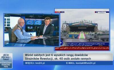 Zamach komentuje Marek Garztecki z Polskiej Akademii Nauk (TVN24)