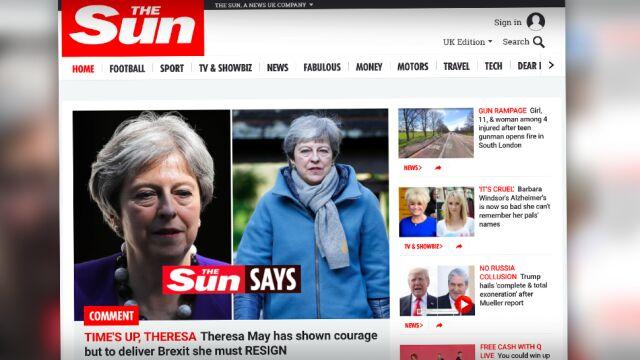 """""""Czas się skończył, Theresa"""". """"The Sun"""": premier musi dziś zapowiedzieć swoją dymisję"""