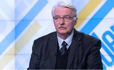 """Waszczykowski zaniepokojony słowami komisarza UE. """"Tworzą fałszywy obraz Polski"""""""