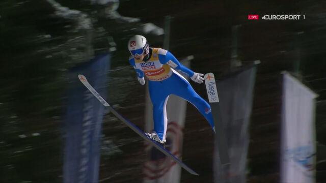 Skok Halvora Egnera Graneruda z 1. serii konkursu w Bischofshofen