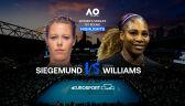 Skrót meczu Siegemund - Serena Williams w 1. rundzie Australian Open