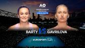 Skrót meczu Barty - Gavrilova w 2. rundzie Australian Open