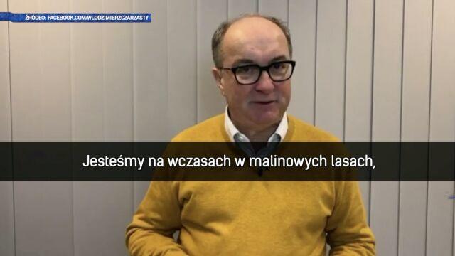 Włodzimierz Czarzasty śpiewa dla Krystyny Pawłowicz