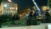 Reporter TVN24: Mieszkańcy przychodzą, by spojrzeć służbom w twarz