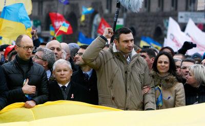 Kaczyński w Kijowie: To jest wybuch