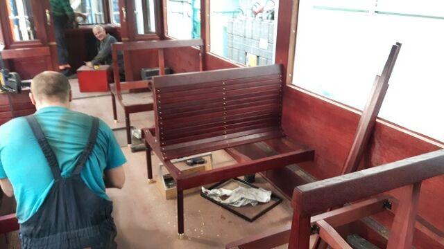 Tak wygląda wnętrze historycznego tramwaju
