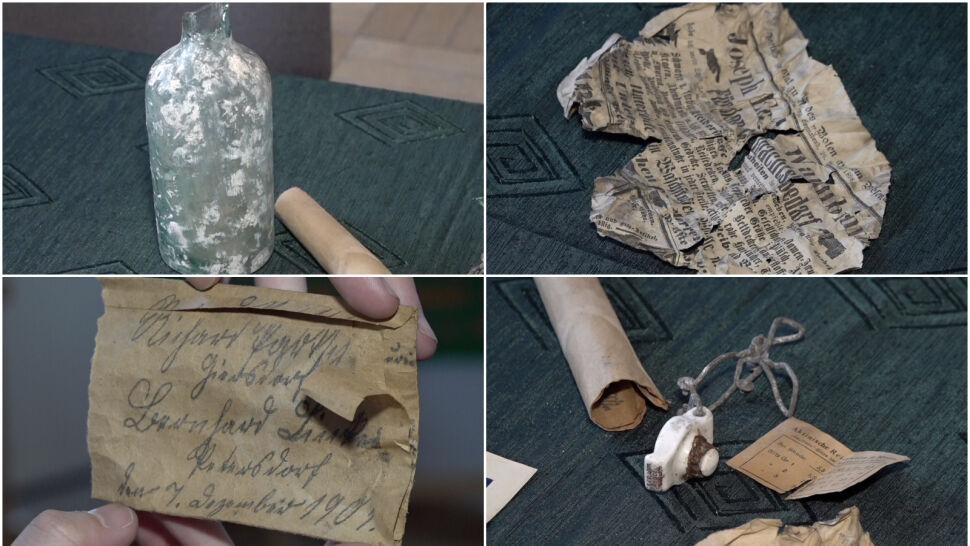 W murze butelka, a w niej list sprzed ponad 100 lat