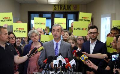 Broniarz: Zawieszamy strajk. Dajemy premierowi czas do września