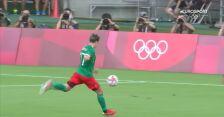 Tokio. Piłka nożna mężczyzn. Meksyk - Francja 2:0 (gol Sebastian Cordova)